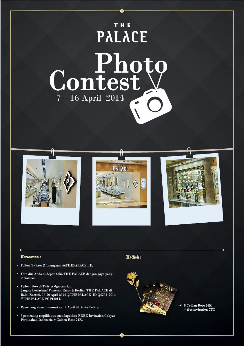 Photo Contest berhadiah Golden Rose 24K by The Palace