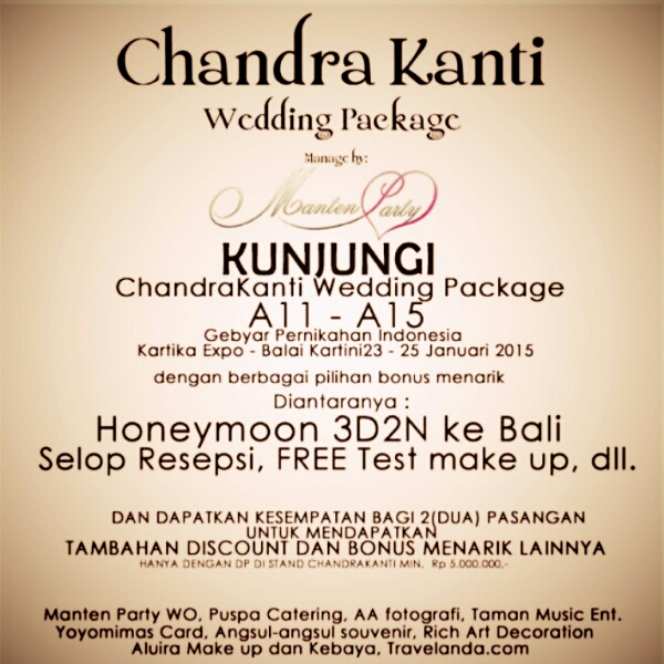 Promo Chandra Kanti by Manten Party WO di Gebyar Pernikahan Indonesia